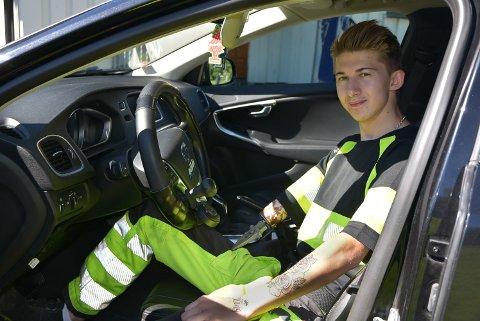 BLIR PENDLER: Hans Fredrik Klerud har fått spesialtilpasset bil.