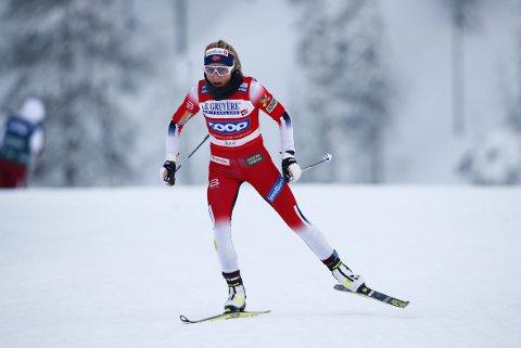 Ruka, Finland 20191201.  Therese Johaug vinner under søndagens langrenn i Ruka. Foto: Terje Pedersen / NTB scanpix