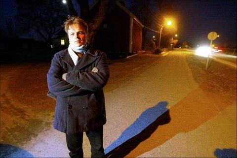 """Ole Fredrik Nordby leder aksjonsgruppa """"Hele Nordby"""" som jobber mot at bygda deles."""