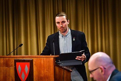 GIR IKKE OPP: Martin Løken (MDG) er skuffet over at partiet hans ikke klarte å bryte sperregrensa i stortingsvalget, men lover at de ikke lar seg knekke av det.