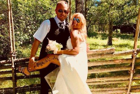 FLOTT BRUD: Line Feldt Toftgård fra Vinterbro giftet seg med Joakim Toftfård i juni 2018.