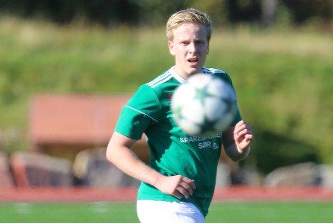 MÅLSCORER: Andreas Holmegård satte inn 2-0-målet på et langskudd.