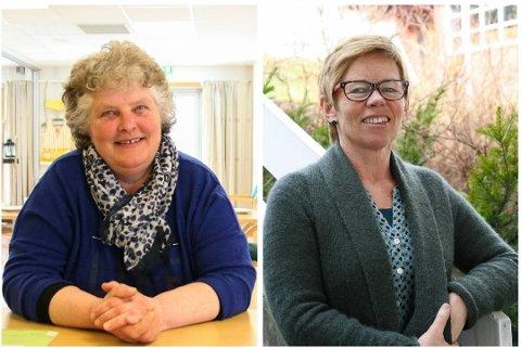 NYE ROLLER: Med den store omorganiseringen i Gjerstad kommune er tidligere leder for PLO, Ellen Kveim, og tidligere leder for Familiehuset, Elfi Jonassen, tildelt nye stillinger.