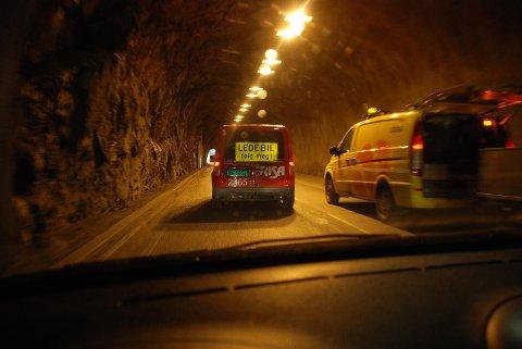 LERVIKTUNNELEN: Noe oppgradering er gjort i Lerviktunnelen, men det er ikke nok til sikkerhetsgodkjenning fordi det ikke er lagt inn manglende kommunikasjon.