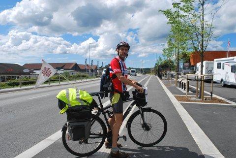 Normann Natland har sykla dei 2200 kilometrane mellom Alta og Bergen for Besteforeldrenes klimaaksjon.