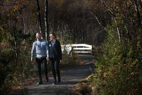 Deltaker Geir Magne Haukås og kona Bente Haukås fra Bodø elvelangs ved Futelva.