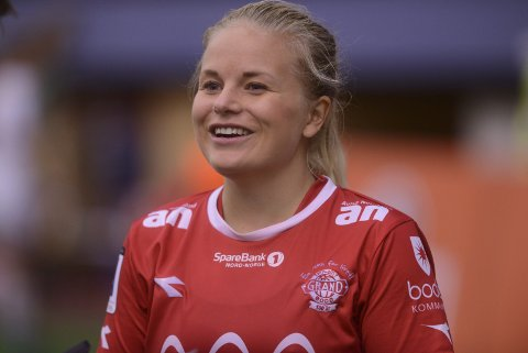Line Danielsen scoret for Grand. Foto: Freddy Toresen