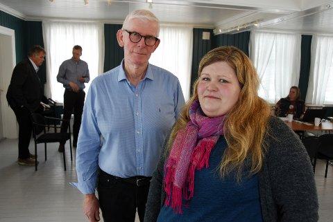 Ser mot Bodø: Rådmann Arne Kvernsjø i Tysfjord ber sammen med sin kollega i Hamarøy om etablering av vertskommunesamarbeid med Bodø snarest. Her er Kvernsjø sammen med lederen for Nord-Salten Barnevern, Mathilde Marhaug.