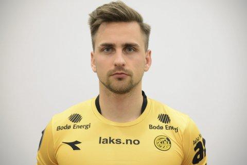 Oliver Sigurjonsson scoret Glimt 2s mål da det ble 1-7-tap for Fløya.