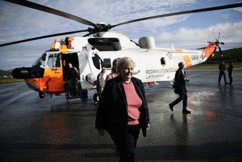 Statsminister Erna Solberg besøker Tromsø. Foto: Stian Lysberg Solum / NTB scanpix
