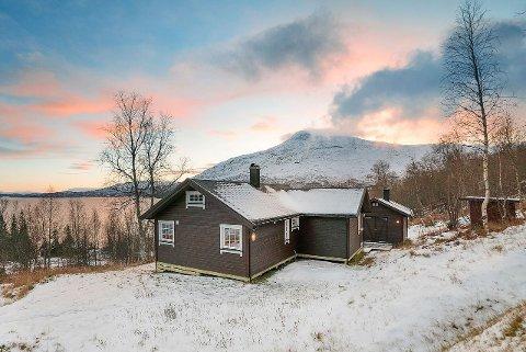 Hytta ligger rett ved Røssvatnet. Eiendomsmegler Tina Jakobsen trekker fram området som et pluss.