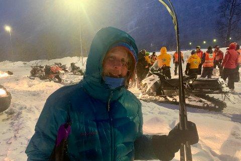 KOM SEG NED: Anne Katrine Haugen etter at hun hadde blitt reddet ned. Hun frykter for hvordan det kunne gått hvis ikke tilfeldighetene ville det slik at noen kunne slippe dem inn på Skarvassbu-hytta.