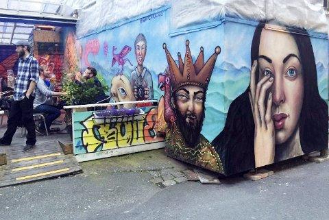Gautes grafittikunst har satt sitt preg på Vågsbunnen. Her er noe som plutselig kom opp uten Folk og Røvere. FOTO: DAG BJØRNDAL