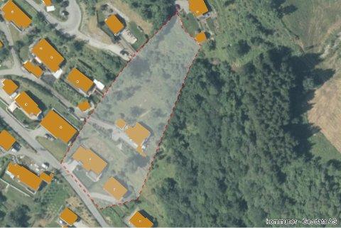 Kartet viser det avsperrede området hvor raset gikk tidlig torsdag morgen forrige uke.
