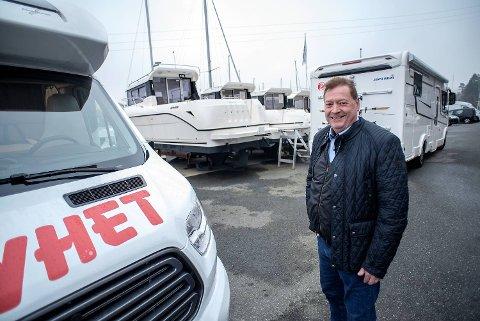 Per Alvern selger både båter og bobiler. Selskapet Bergen Marine styrer i år mot nok en inntektsrekord, forteller han.