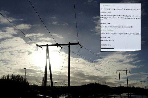 Chatloggen fra en selger i Fjordkraft som utga seg for å være en kunde.