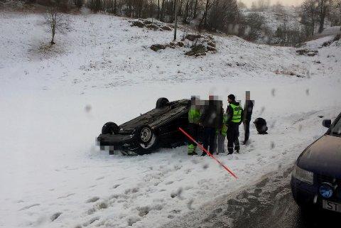 Ulykken skjedde ved Mykingvegen.