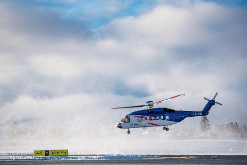 Datatrøbbel førte til stans i helikoptertrafikken på Flesland onsdag. (Illustrasjonsfoto)