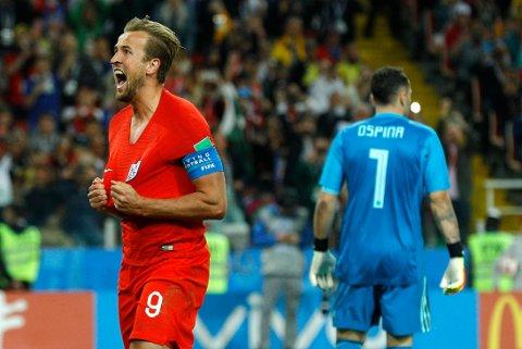 Harry Kane og England er videre til kvartfinalen etter en dramatisk kamp mot Colombia.