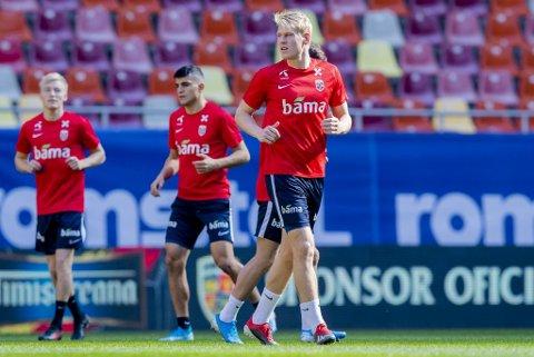 Jakob Glesnes er på sin første landslagssamling med Norges A-lag.