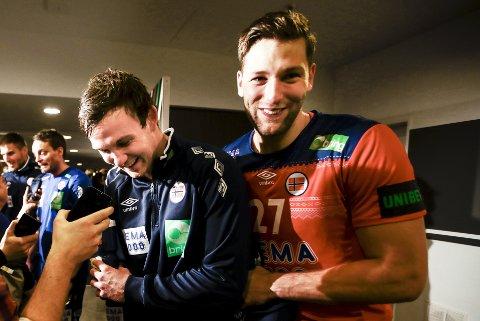 Sander Sagosen og Harald Reinkindetter VM-kampen mot Tyskland. Nå blir det lagkompiser!