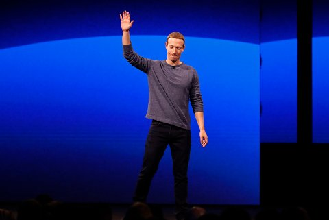 Facebook-sjef Mark Zuckerberg under presentasjonen i California.