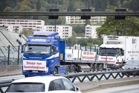 Det er synd at yrkessjåførene kjører først i protesttoget, mens vanlige folk tusler bak, skriver innleggsforfatteren. FOTO: Ole Martin Røssland