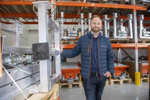 Ivar Ole Wik har stor fremgang med Liftroller, et patentert produkt som skal forenkle logistikken i byggebransjen..