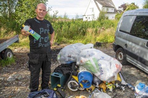 Man kan jo lure på hvorfor man vil stjele en flaske zalo, sier Øyvind Bergmann om den lite kritiske tyven.