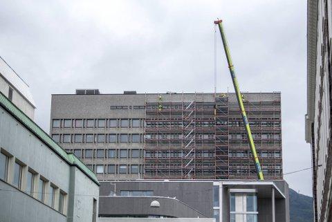 Rådhuset er under omfattende rehabilitering.