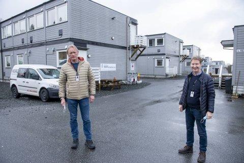 De pensjonerte politimennene Tom Throndsen og Gunnar Rasmussen jobber som smitteverninspektører i Bergen kommune.