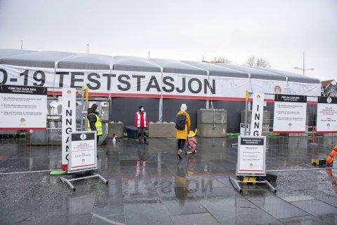 1445 personer testet seg i Bergen mandag.