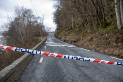 Tellevikveien er fremdels stengt etter det store raset som gikk mandag.