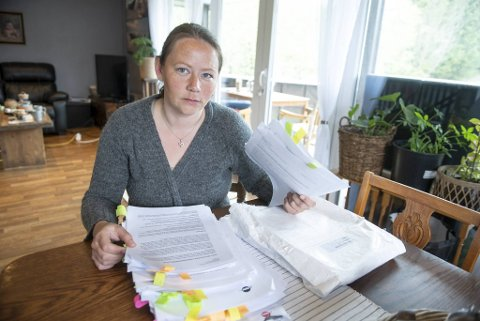 Katrine Breistrand Skårnes (37) har kjempet i 13 år for å få riktig uførepensjon. NAV-rapporten som ville gitt henne vedtak på PTSD «forsvant» nemlig i systemet. I stedet ble barndommen hennes brukt mot henne.