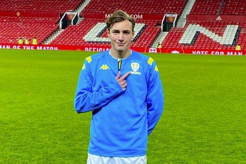 Niklas Haugland (19) fra Hjellestad fortsetter karrieren i Molde. Her er han avbildet etter en U23-kamp for Leeds på Old Trafford.