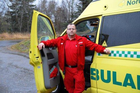 Yngve Jakobsen, tillitsvalgt i ambulansetjenesten, mener flaksen ikke kan vare evig. (Arkivfoto)