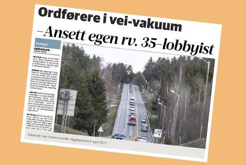Skjermdump fra bygdeposten.no 26. april 2017.