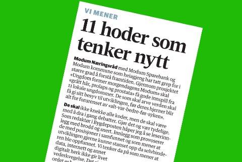 FAKSIMILE: Leder i Bygdeposten 20. juni 2017.