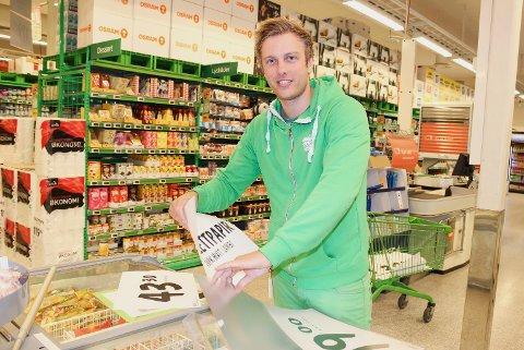UTVIDER: Det gleder Ruben Elkjær, butikksjef for Kiwi Noresund, seg til.