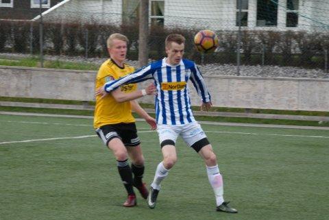 TOMÅLSSCORER: Joakim Ødegård scoret to mål for Moi mot Sola onsdag kveld.