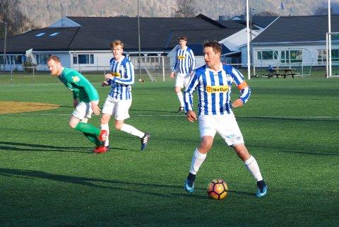 SCORET: Mois kaptein Kristian Hafstad sendte Moi i ledelsen før laget fikk en kollektiv kollaps i 6-2-tapet mot Nærbø.