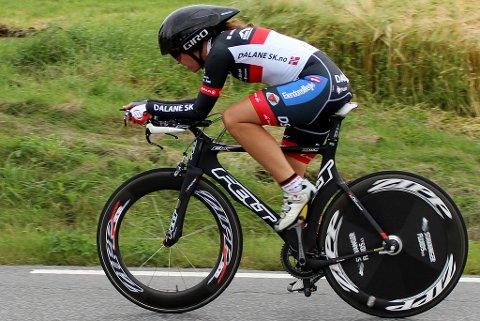 Hilde Hetland viste seg søndag som en veldig sterk temporytter. Den endelige resultatlista er ennå ikke klar, men Hetland syklet inn blant de tre første kvinnene.