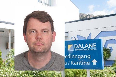 SMITTE PÅ SKOLEN: Det er påvist smitte hos en elev ved Dalane videregående skole. Rektor Tor-Magne Rotevatn forteller at de har gode rutiner ved skolen for å begrense spredning.