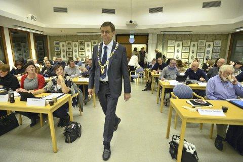 SJEF FOR HARDE TIDER: Bent Inge Bye (Ap) ble gjenvalgt som ordfører i Nedre Eiker i høst.