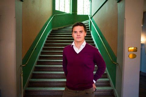 FORTSATT OPTIMIST: Ivar Bjørnøy Lalim, Drammen Høyre, fikk mye motbør etter at han på forsommeren lanserte begrepet turkis politikk. Men Lalim begrunner her hvorfor han fortsatt mener at vekst og grønt skifte må gå hånd i hånd.