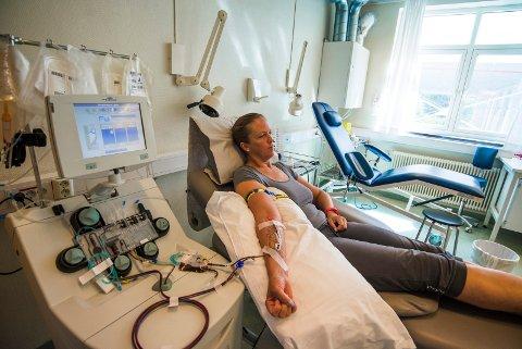 BLODGIVER: Linda Cecilie Teigen ønsket å hjelpe andre, nå gir hun blodplater en gang i måneden