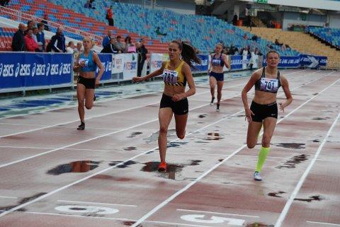 ÅRETS FØRSTE: Solbeig Hernandez Vråle løp årets første 400 meter, og vant i Göteborg.