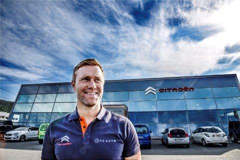 SOLGTT: Eirik Vennerød overtok bygget etter Bergheim Auto-Salg, og er nå blitt forhandler av Citroën. Nå har han solgt firmaet.