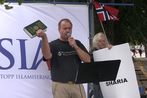HOLDER APPELL: Lars Thorsen og SIAN har søkt om å få holde en politisk markering på Bragernes torg i mai.