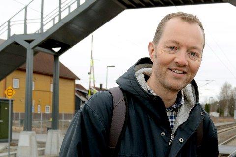 OPPGITT: Olav Gåserød, leder for aksjonsgruppa Bevar Steinberg stasjon, reagerer på kommentar fra rådmannen i Øvre Eiker.